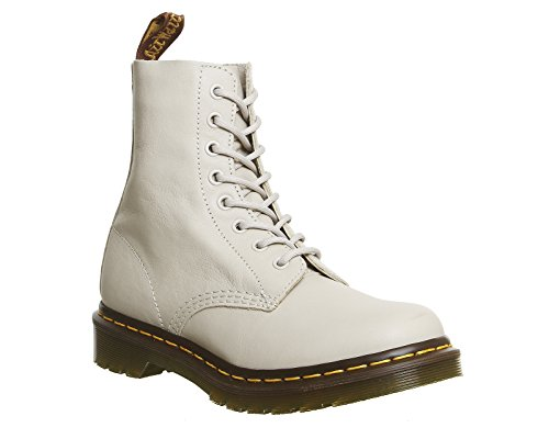Dr. Martens Womens Pascal Ivory Virginia 8 Eyelet Leather Ankle DM Boots Size 6 (Virginia Leather)