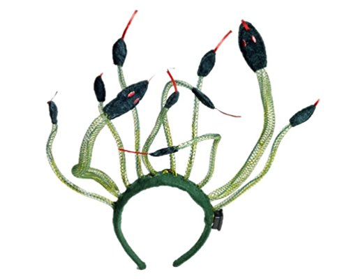 Medusa Snake Headpiece Headband Goddess Greek Mythology Roman Greek Lights-up (Medusa Snake Headpiece)