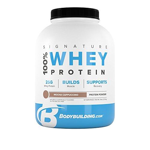 BodyBuilding.Com Signature 100% Whey Protein Powder | Mocha Cappuccino | 25g of Protein per Serving | 5 lbs