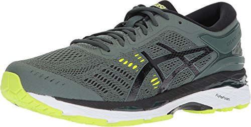 ASICS Men's Gel-Kayano¿ 24 Dark Forest/Black/Safety Yellow 6 D US ()