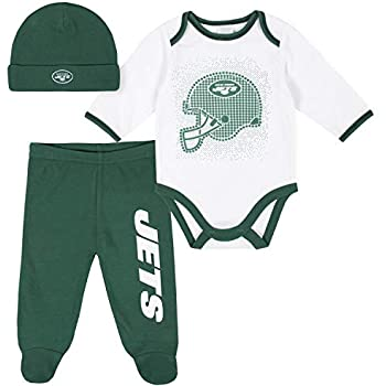 NFL Boys 3 Pack Bodysuit Footed ...