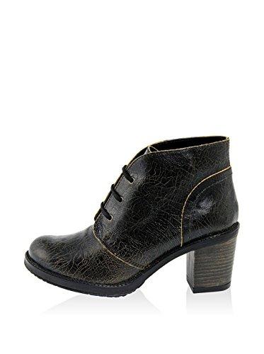 Gusto - 6865_TRINIDAD_CRACK_NERO - Schuhe Stiefel Schwarz
