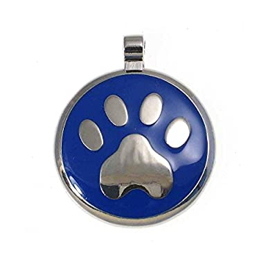 LuckyPet Pet ID Tag: Paw Print Jewelry Tag - Custom engraved cat tags and dog tags -Many colors available!