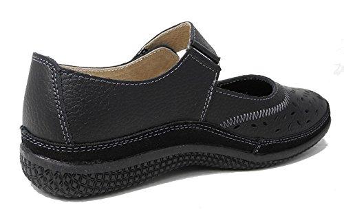 4 Ladies Bianco Pelle Eee Navy Bronze Taglia 7 3 Nero Velcro Wide Scarpe 6 9 Fit X In 8 5 Womens 1vqAZdgnq