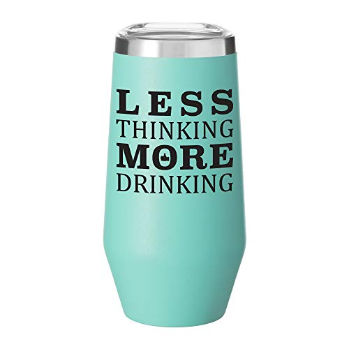 Stainless Steel Stemless Adult Sippy Cup with Lid | Double Wall Copper Vacuum Insulated | Gift Idea for Any Occasion | 9 Ounce Tumbler with Funny Saying (Matte Seafoam Mint)]()