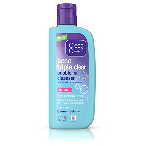 - Clean & Clear Acne Triple Clear Bubble Foam Cleanser, 5.7 Fl. Oz. (Pack of 3)