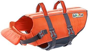 Perro de Outward Hound Ripstop ajustable Life Jacket con mango de rescate, Anaranjado, Mediano