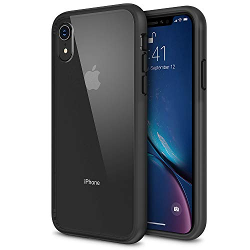 (iPhone XR Case, Maxboost HyperPro Hybrid Case Compatible Apple iPhone XR 2018 -Matte Black [Enhanced Drop Protection] Infused GXDGel/TPU Cushion/Rigid Clear Backplate Cover (Fit Most Screen Protector))
