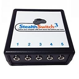 StealthSwitch3 USB Foot Controller - Mac and PC Programmable Foot Pedal - Use with Foot Switch for Photo Booth, PTT Switch, Gaming Foot Pedal