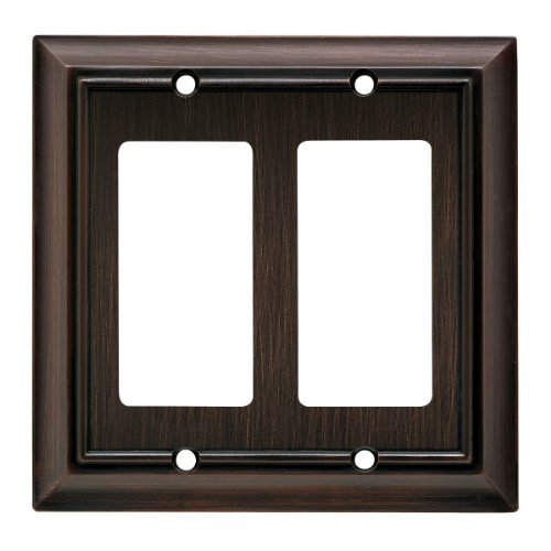 Brainerd 64237 Architectural Double Decorator Wall Plate / Switch Plate / Cover Color: Venetian Bronze, Model: 64237