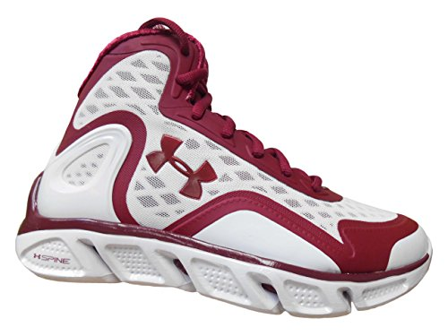 Under Armour TB Spine Bionic Men's Basketball Shoes (17, Cardinal/White)