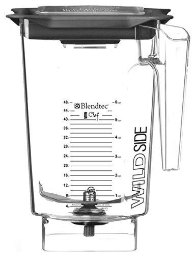 Cheap Blendtec WildSide Chef Blender Jar – 3 Qt, 4″ Blade, with Vented Gripper Lid