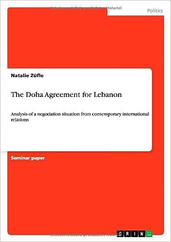 The Doha Agreement For Lebanon Natalie Zfle 9783656026051 Amazon