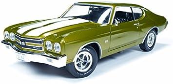 Chevrolet Chevelle Ss 454 Metallic Hellgrün Weiss 1970 Modellauto Fertigmodell Ertl American Muscle 1 18 Spielzeug