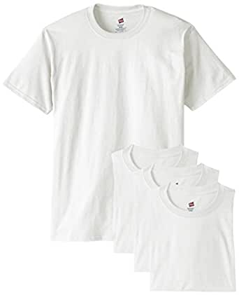 Hanes Men's Comfortsoft T-Shirt (Pack Of 4),White,Small