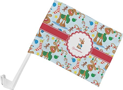 (YouCustomizeIt Reindeer Car Flag (Personalized))