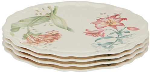 Lenox 856372 Butterfly Meadow Melamine Accent Plates, 9 inches, White