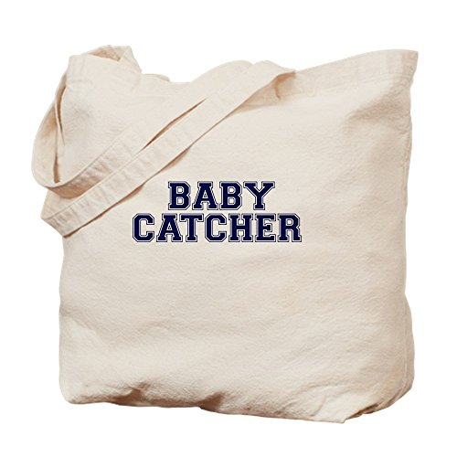 - IrmaPetty Baby Catcher Collegiate - Natural Canvas Tote Bag, Cloth Shopping Bag