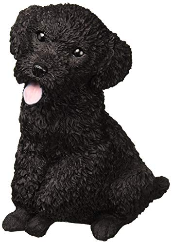 Design Toscano Black Poodle Puppy Dog Statue, Multicolored