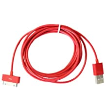 A-1 Quality G4GADGET® 2 Meter 30 pin Usb Cable/Lead (Red) compatiable for Apple Ipad3, Ipad2, Ipad 3g, 3GS, 4, 4s and Ipod series