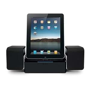 iLuv iMM747 Audio Cube Hi-Fidelity Speaker Dock for the Apple iPad -3G / iPad 2 WiFi / 3G Model 16GB, 32GB, 64GB EST Model for Apple iPhone 4 and iPhone 4S and iPod Touch -Black