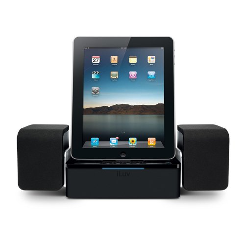 iLuv iMM747 Audio Cube Hi-Fidelity Speaker Dock for the  Apple iPad -3G / iPad 2 WiFi / 3G Model 16GB, 32GB, 64GB EST Model for Apple iPhone 4 and iPhone (Jwin Model)