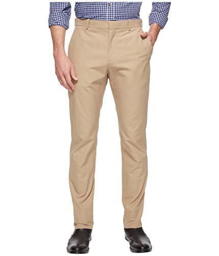 Perry Ellis Khaki (Perry Ellis Men's Standard Slim Fit Travel Luxe Cotton Pant, Pale Khaki, 38W X)