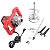 GOFLAME 1600W Mortar Mixer Handheld Electric Pro Mixer Stirring Tool Adjustable 7 Speed 120V for Cement Plaster Grout Paint Mortar, 110V Electric Cement Mixer