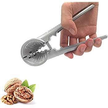 Nut Cracker Tool, Alamic Heavy Duty Nutcracker for Walnut Almonds Plier Opener Tool with Non-slip Handle
