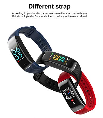 AGO Fitness Tracker, Smart Activity Watch Waterproof Smart Bracelet with Step Counter, Calorie Counter, GPS, Heart Rate Monitor, Pedometer for iOS and Android