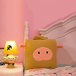 Sagittarius Cartoon Bedside Table Lamp,Cute Yellow Cloth