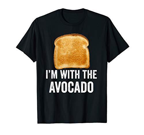 Toast I'm With The Avocado Bread Slice Avocado Toast Costume T-Shirt
