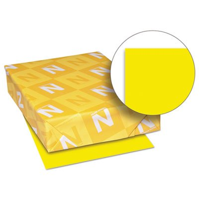 Exact Brights Paper, 8 1/2 x 11, Bright Yellow, 50 lb, 500 Sheets/Ream, Sold as 1 Ream, 500 per Ream