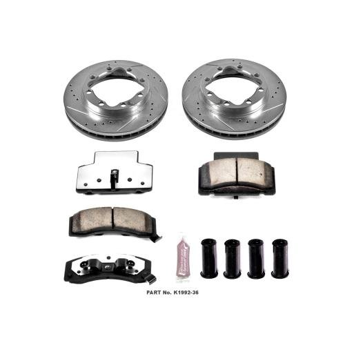 K3500 Power Stop Truck (Power Stop K1992-36 Front Z36 Truck and Tow Brake Kit)