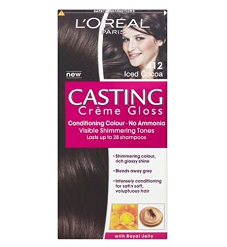 - L'Oréal Casting 412 Iced Cocoa - Pack of 2