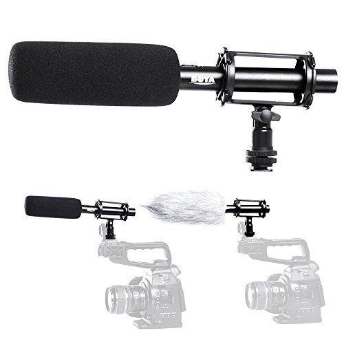 BOYA BY-PVM1000 Condenser Shotgun Microphone 3-pin XLR Output on DSLR Camera