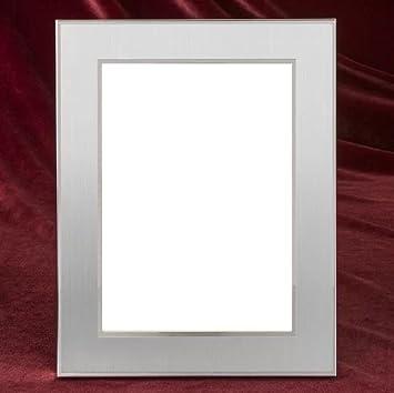 Amazon.com - Elegance Jolene Brushed Silver Picture Frame (4\'\' x 6 ...