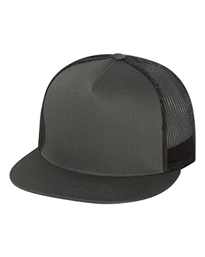 Yupoong Five-Panel Classic Trucker Cap. 6006 - Charcoal (Hats For Cheap)
