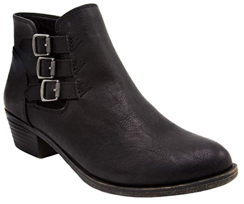 London Fog Womens Tommy Ankle Boot Black 8