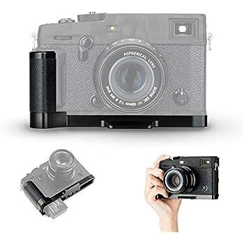 JJC MHG-XPRO3 Solid Metal Hand Grip Secure Handle Bracket for Fuji Fujifilm X-PRO3 X-PRO2 X-PRO1 XPRO3 XPRO2 XPRO1 Camera,Anti-Slip Pads Design /& Arca Swiss Type Quick Release Plate Design