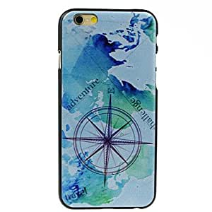 ZL World Map Pattern Hard Case for iPhone 6