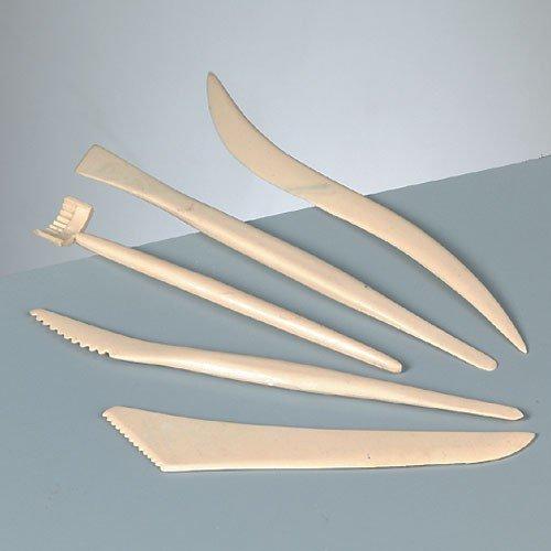 Efco 5 Parts Plastic Modelling Tool Set, Cream, 13-17 cm 1822904