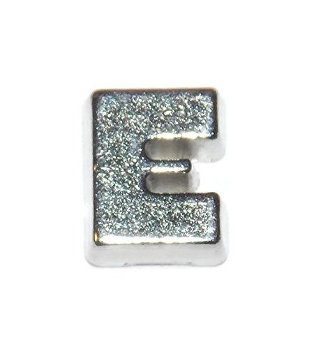 Letter E Charm for Floating Lockets - Old School Geekery Brand TM Locket Charms - Alphabet Initial Charm for Wedding Gift