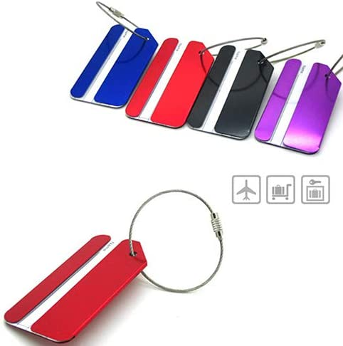 Guoainn Convenient And Practical Luggage Bag Tag Address Holder Secure ID Label Travel Aluminum Alloy With Ring