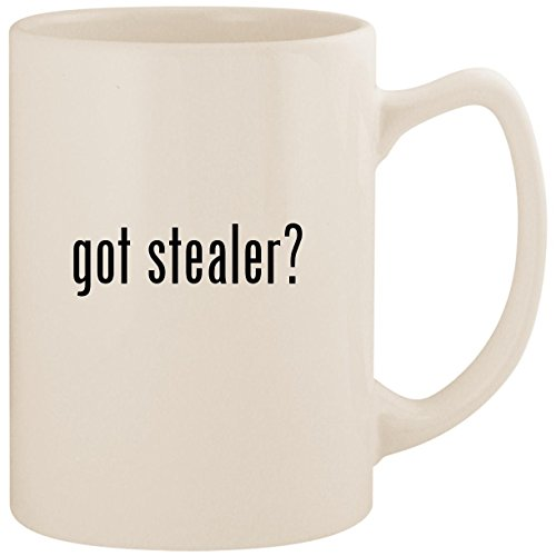 got stealer? - White 14oz Ceramic Statesman Coffee Mug Cup