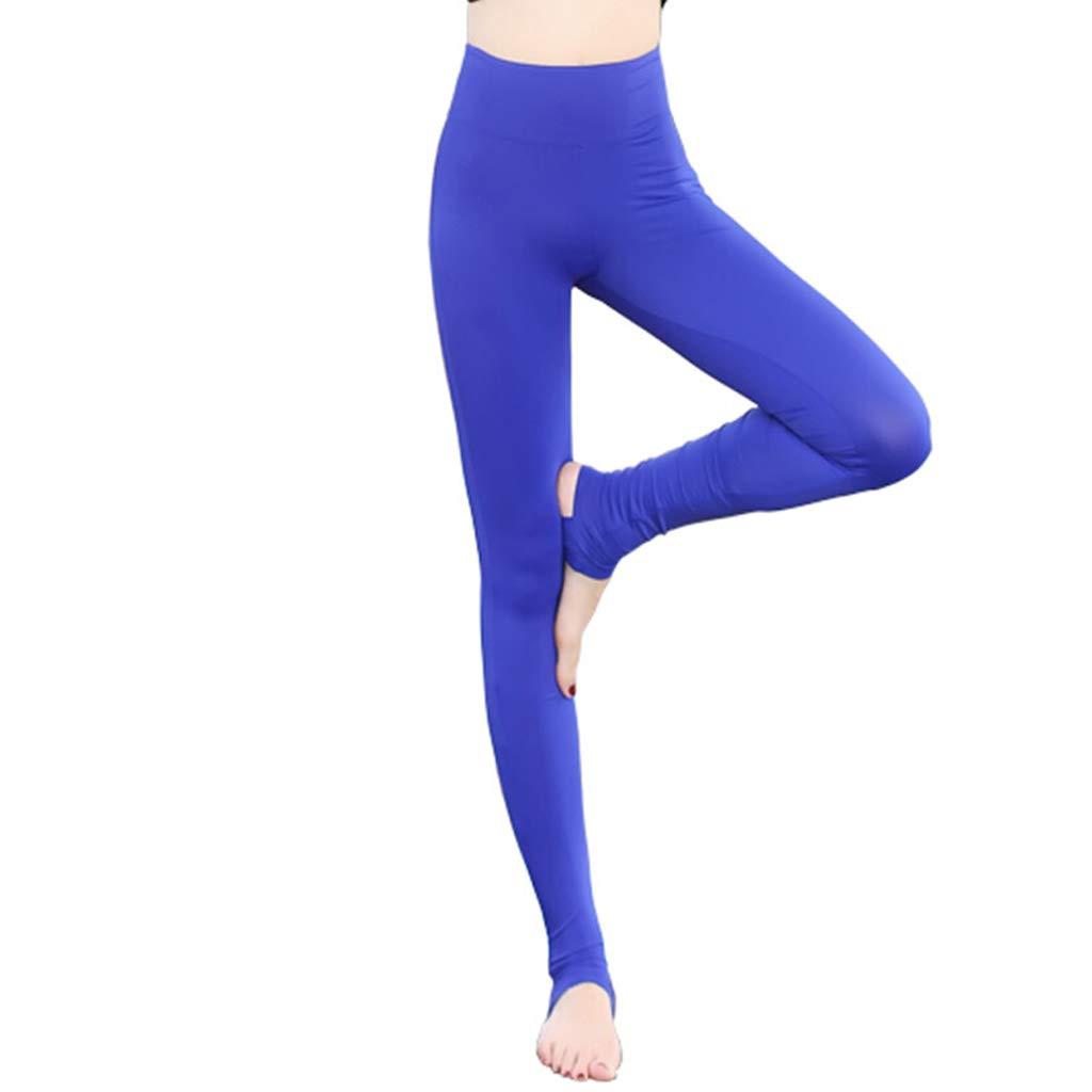 Herbst und Winter Yogahosen Enge Stretch-Yoga-Schritthose Jogginghose Schlanke Fitness-Tanzhose (Farbe : Blau, Größe : M)