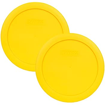 Pyrex 7201-PC Round 4 Cup Storage Lid for Glass Bowls (2, Yellow)