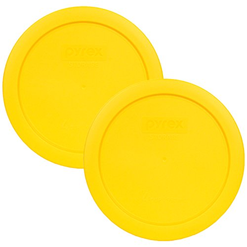 - Pyrex 7201-PC Round 4 Cup Storage Lid for Glass Bowls (2, Yellow)
