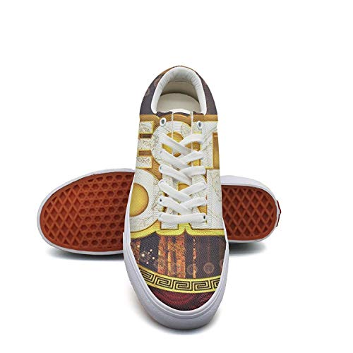 fvnoui GirlElectric Forest Festival Poster Logo Canvas Shoes