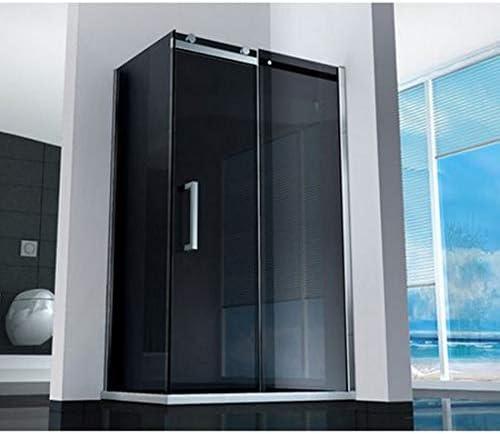 Mampara de ducha corredera de cristal ahumado, 8 mm, 70 x 100 cm ...